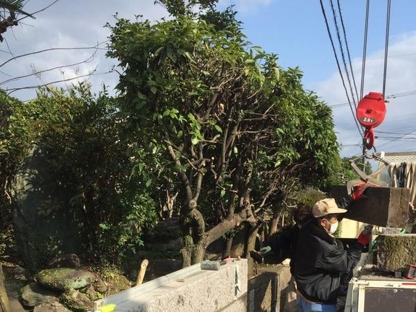 大分市木上に石塀