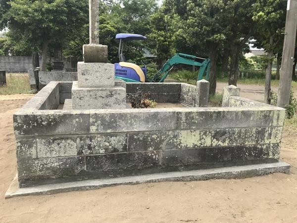 歴史ある、先祖代々のお墓の修復石工事