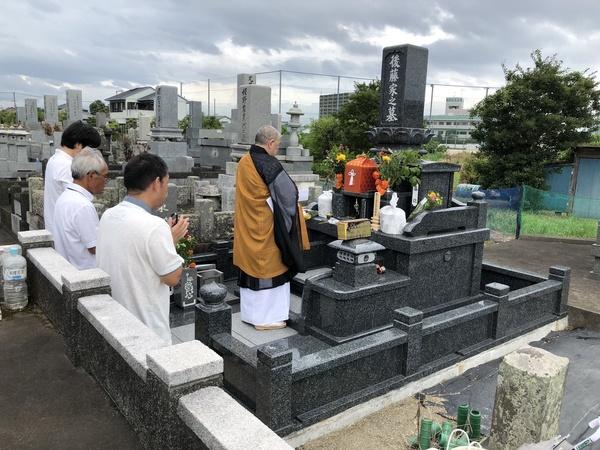 大分市皆春墓石完成納骨式