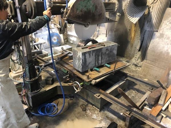 東和石材工場 切削テスト