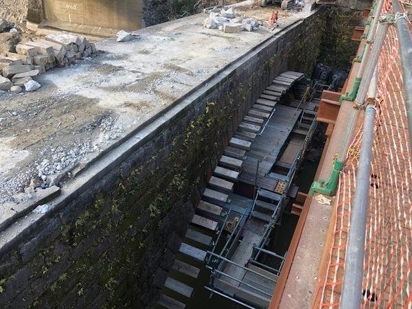 大分県日田市石橋解体移設工事