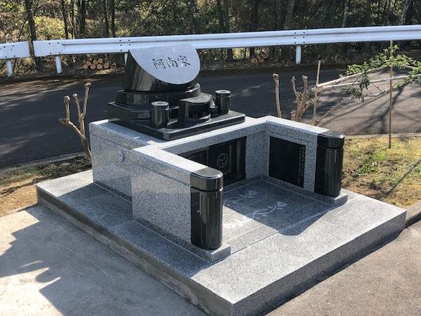 大分市やすらぎ霊園デザイン墓完成