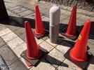 大分市中央町車止め石工事の画像2