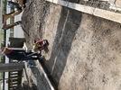 大分市霜凝神社 参道石張り工事 基礎コンクリート打設の画像2