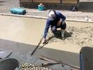 大分市霜凝神社 参道石張り工事 基礎コンクリート打設の画像5