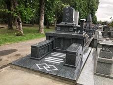 大分市天然塚墓石完成