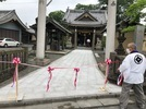 大分市霜凝神社参道石張り完成の画像3
