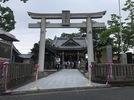 大分市霜凝神社参道石張り完成の画像2