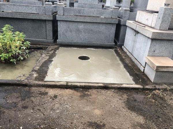 大分市墓石基礎コンクリート