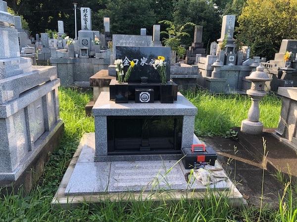 お墓のクリーニング ビフォーアフター